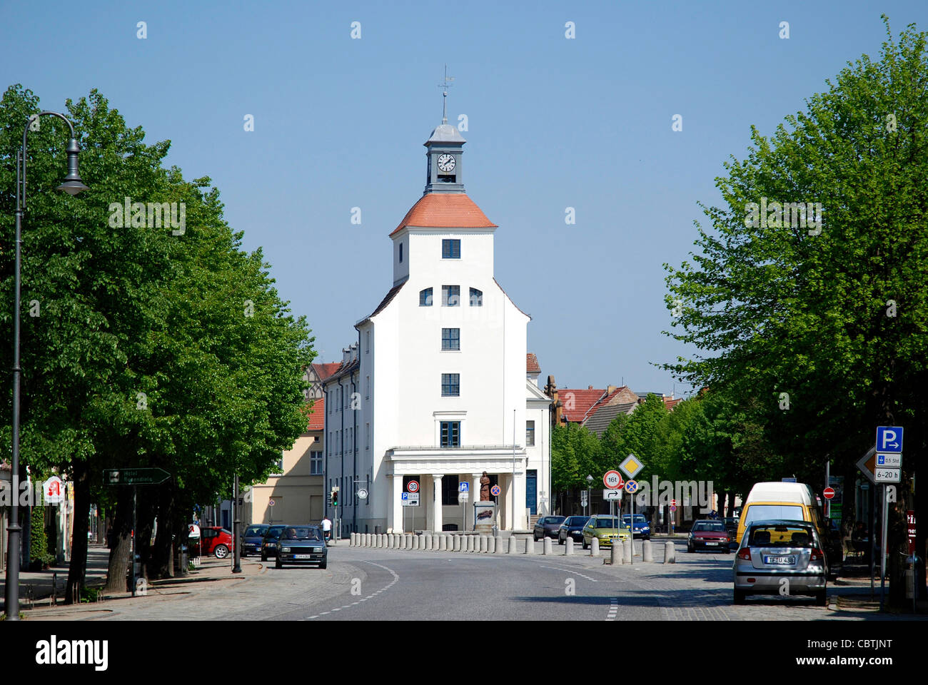 City hall of the town Treuenbrietzen in the Flaeming. - Stock Image