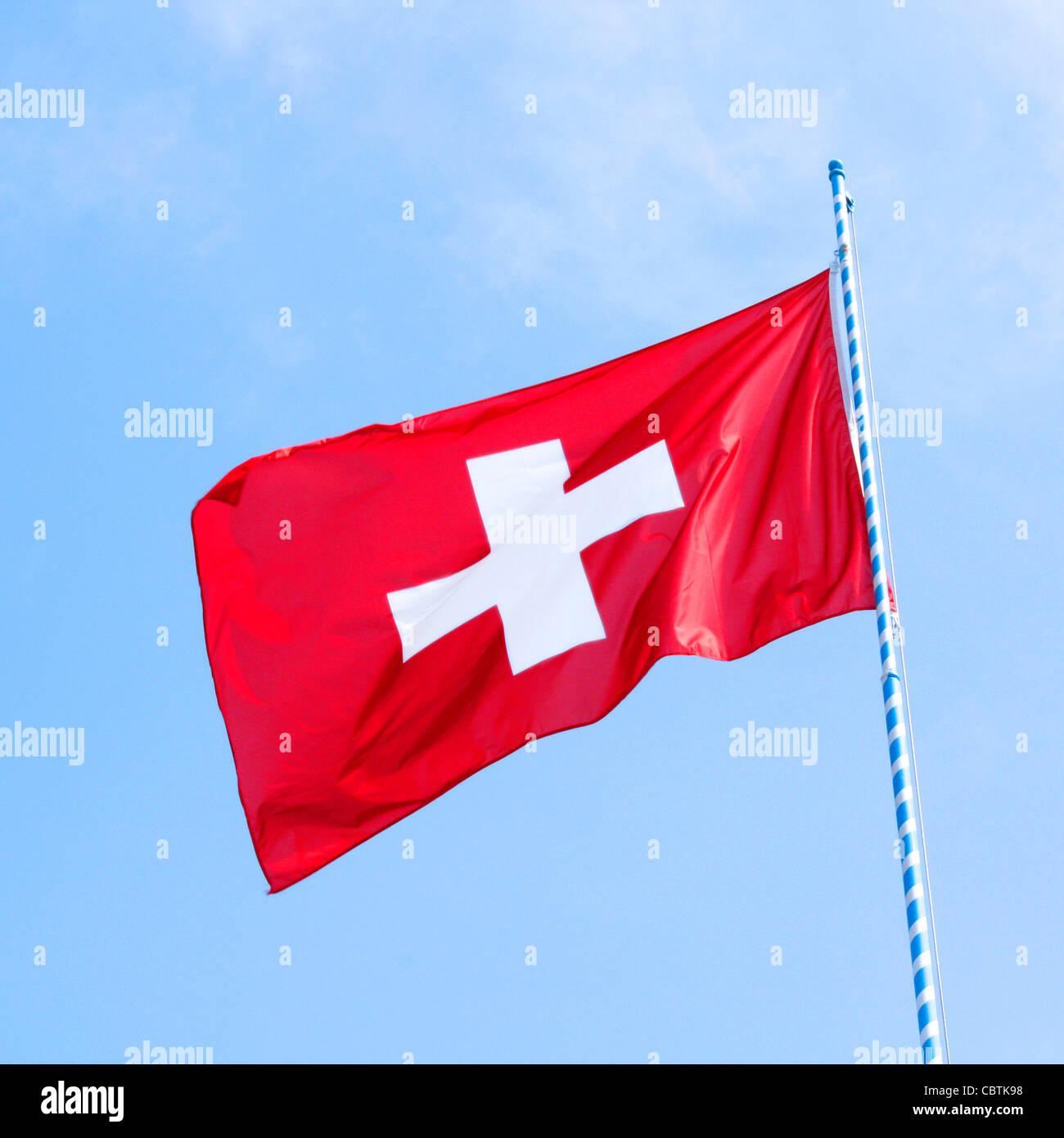 Swiss flag - Stock Image