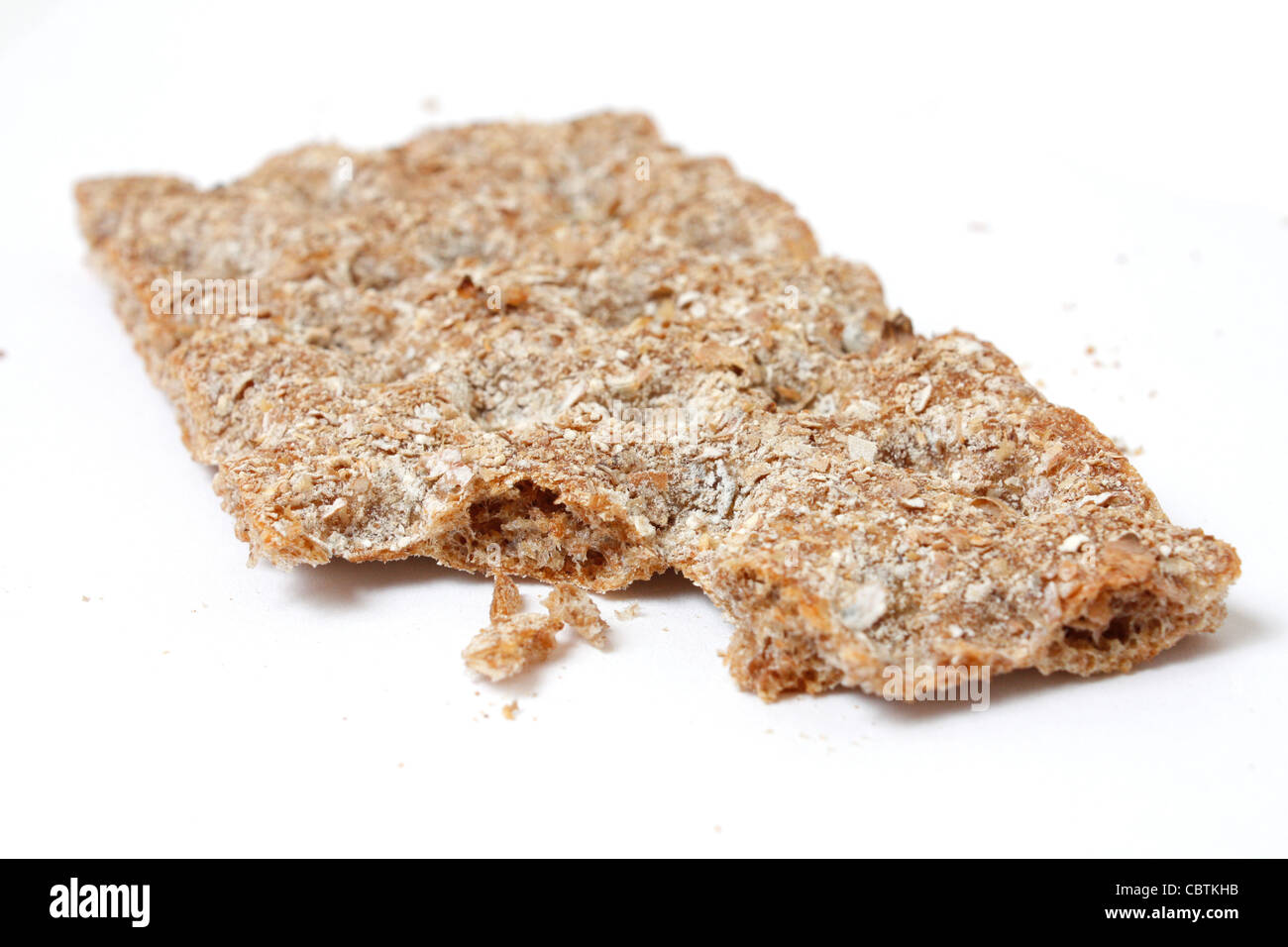 swedish crispbread isolated on white - Stock Image