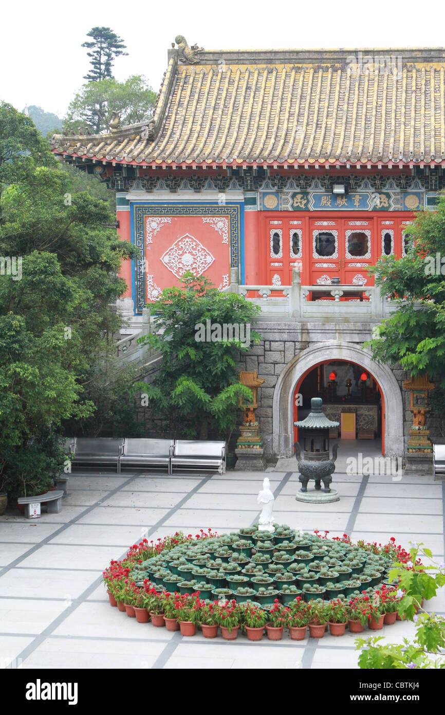 The Po Lin Monastery at Lantau Island in Hong Kong - Stock Image