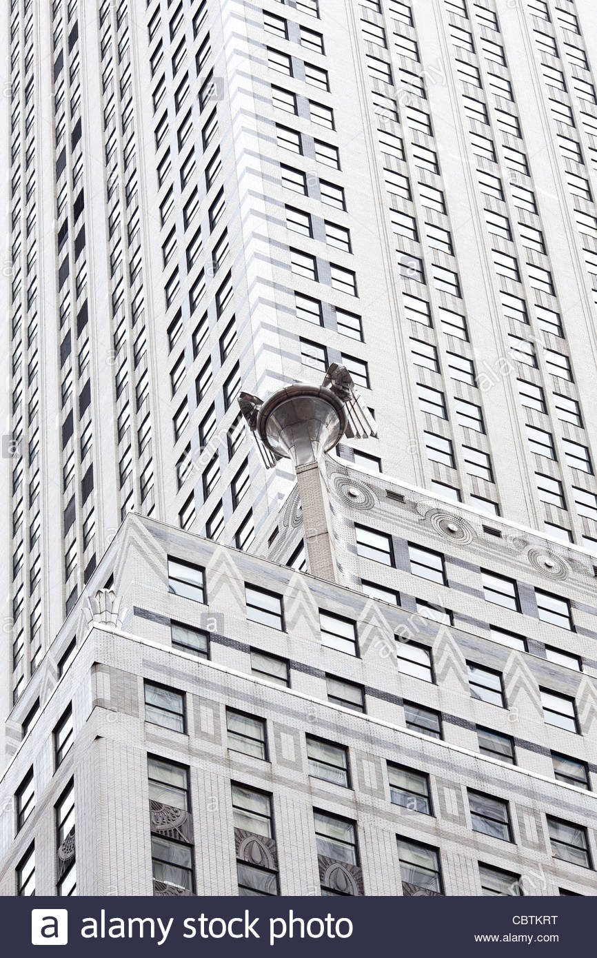 Detail of the exterior of Chrysler Building, Midtown, Manhattan, New York City, USA - Stock Image