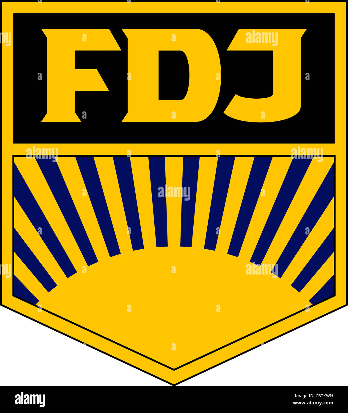Logo of the GDR youth organization 'Freie Deutsche Jugend'  FDJ. - Stock Image