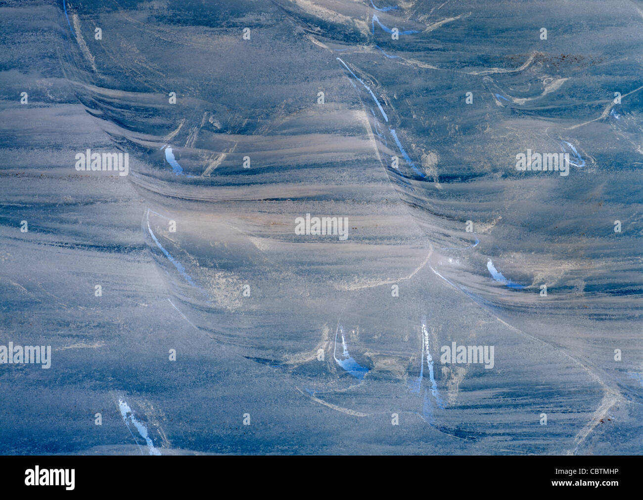 Bizarre and gorgeous ice structures inside the Glacier of the Lötschental Valley in Wallis Valais - Stock Image