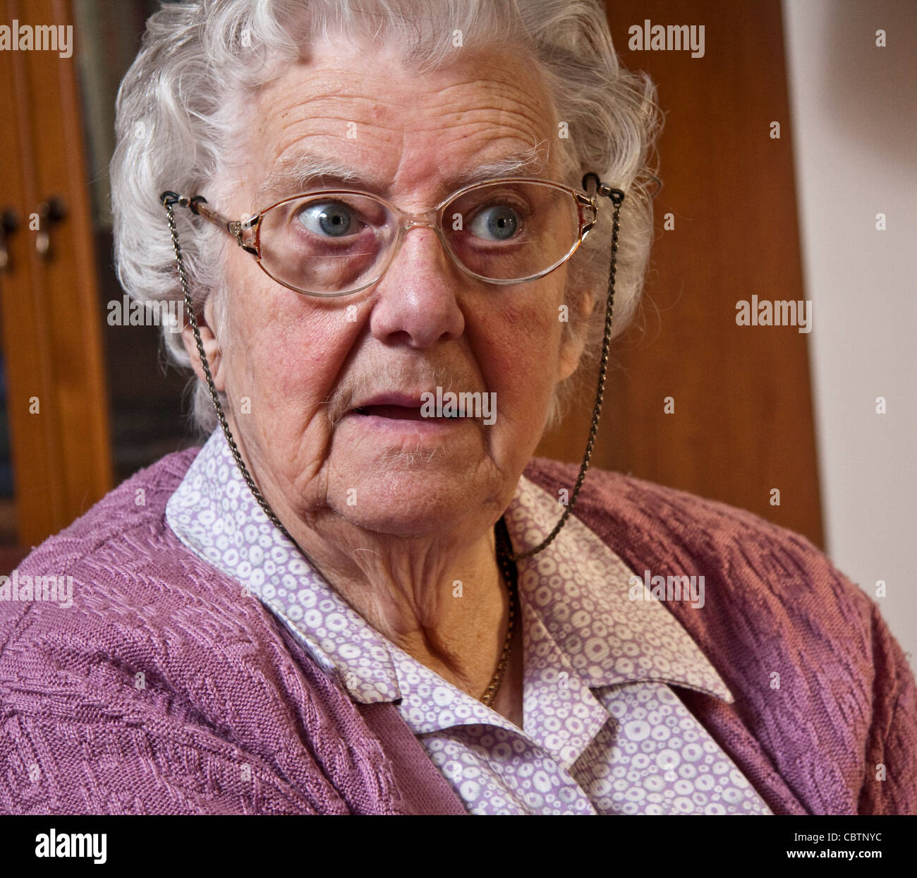 Raconteur, writer and Suffolk countrywoman Peggy Cole MBE appeared in the 1974 film Akenfield. - Stock Image
