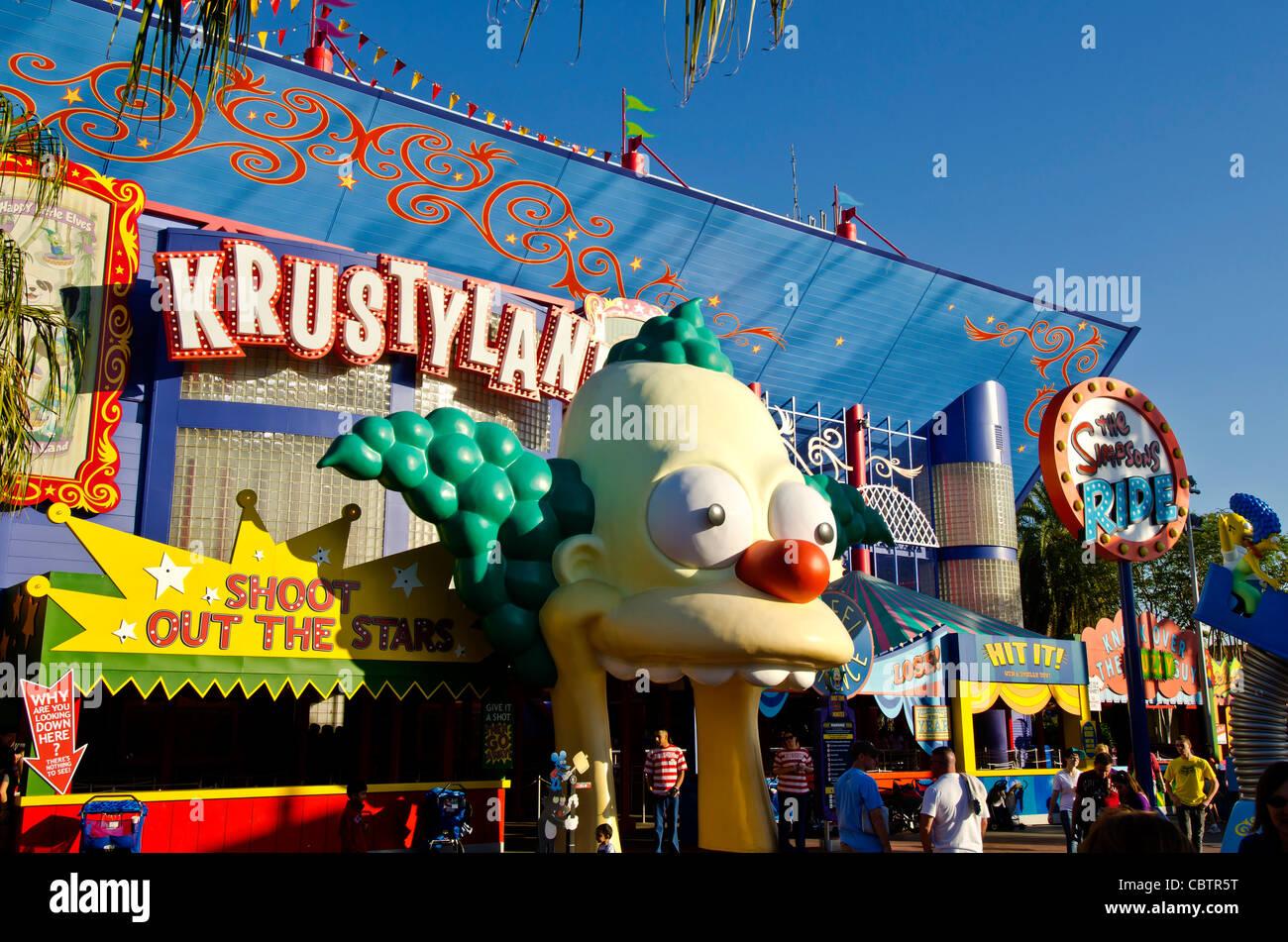 Krustyland The Simpson's Ride at Universal Studios Orlando, Florida - Stock Image