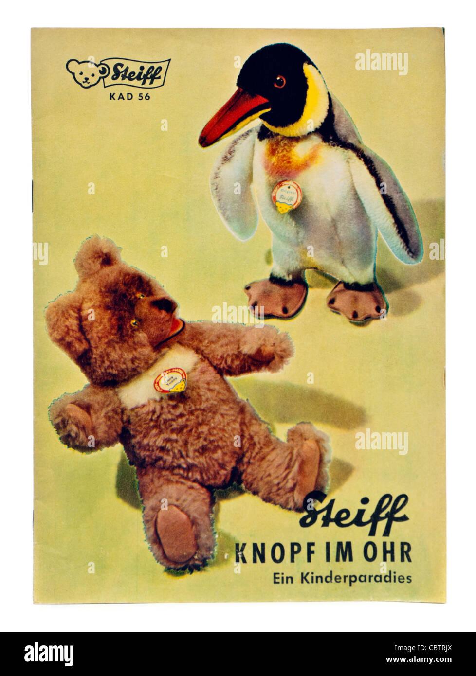 Vintage original 1956 Steiff catalogue - Stock Image