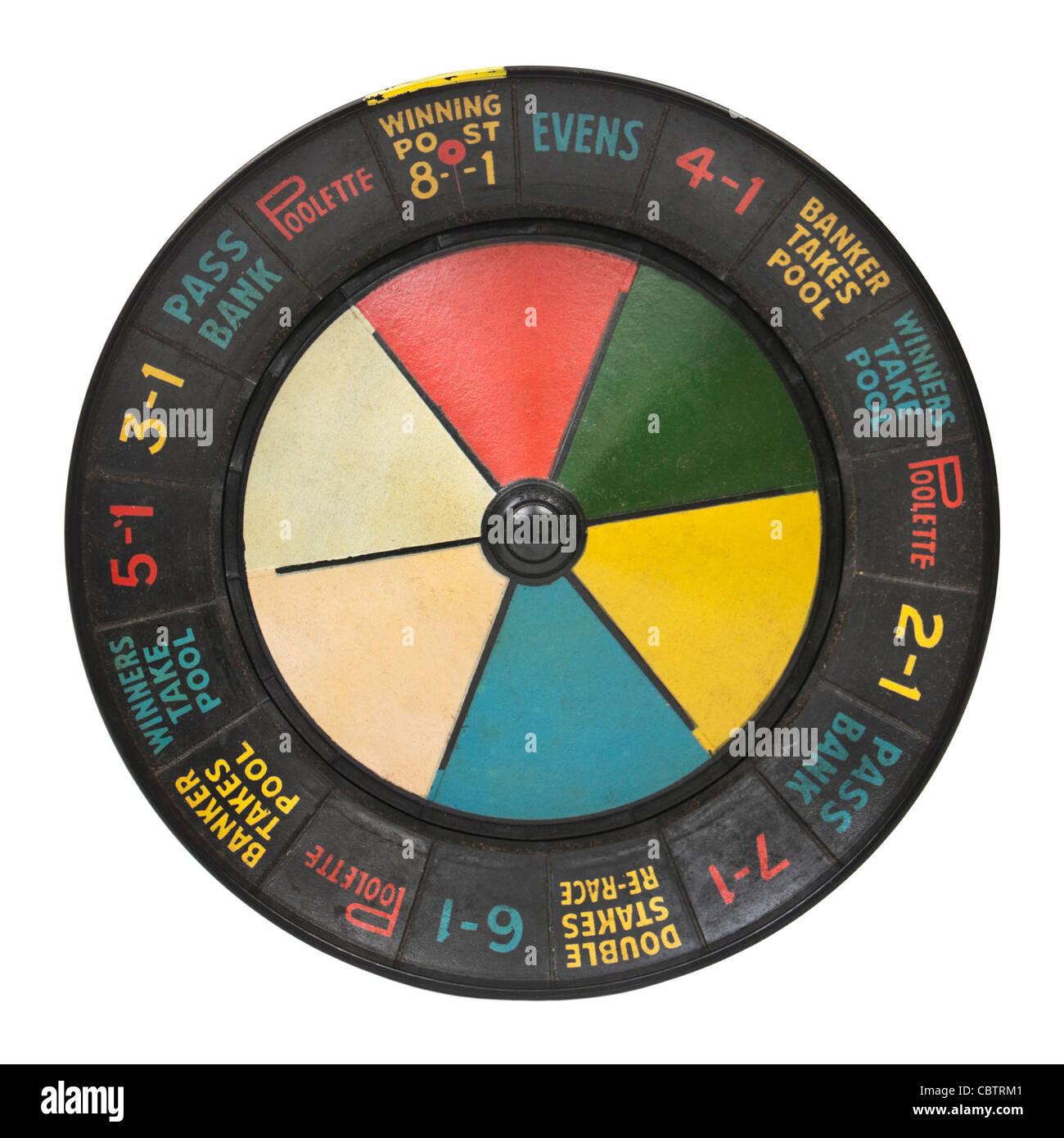 1930's vintage 'Poolette' bakelite roulette wheel / board game - Stock Image