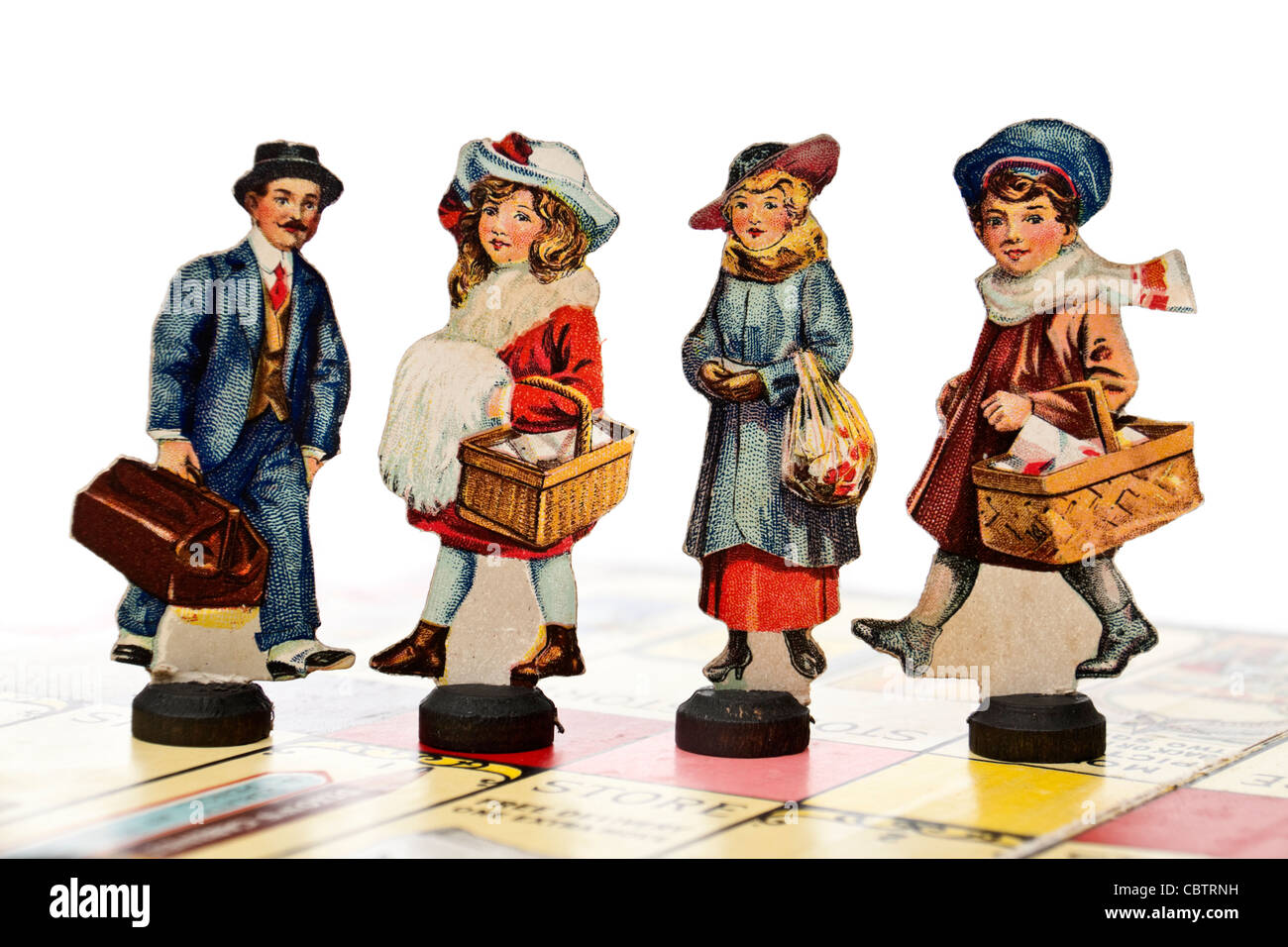 Antique Edwardian (1915) 'Little Shoppers' board game by Gibson Games - Stock Image