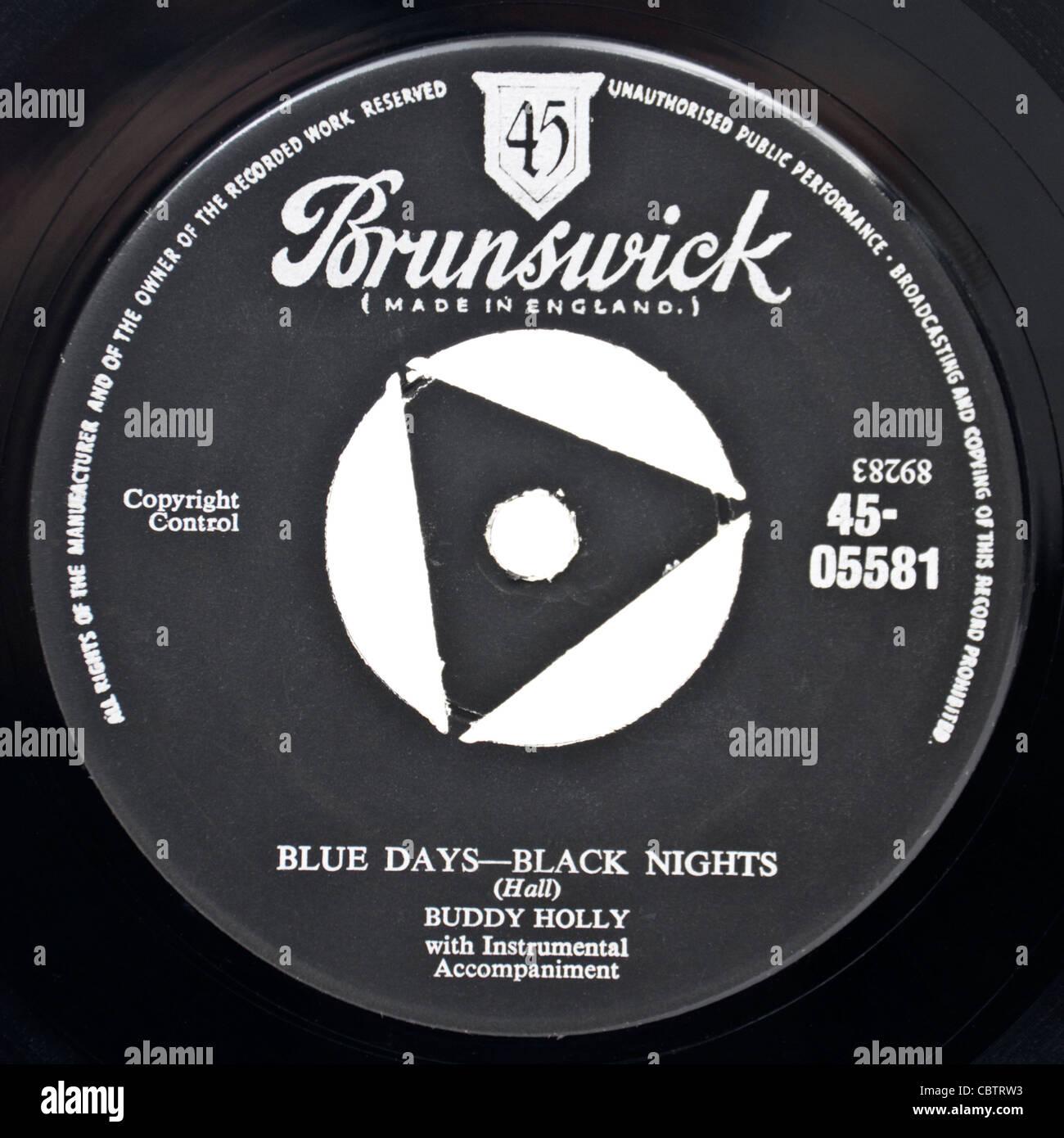 Original 1956 version of 'Blue Days - Black Nights' by Buddy Holly - Stock Image