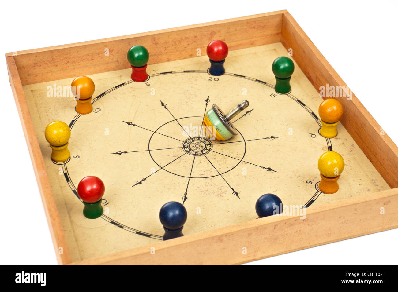 Rare 1937 vintage 'Wiggle-Waggle, the Rambling Top Game' by Milton Bradley (No 4375) - Stock Image