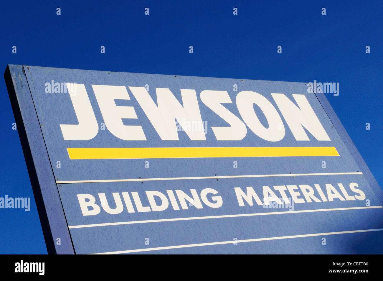 Jewson Builder's Merchants Sign, Stratford, London, England, UK - Stock Image