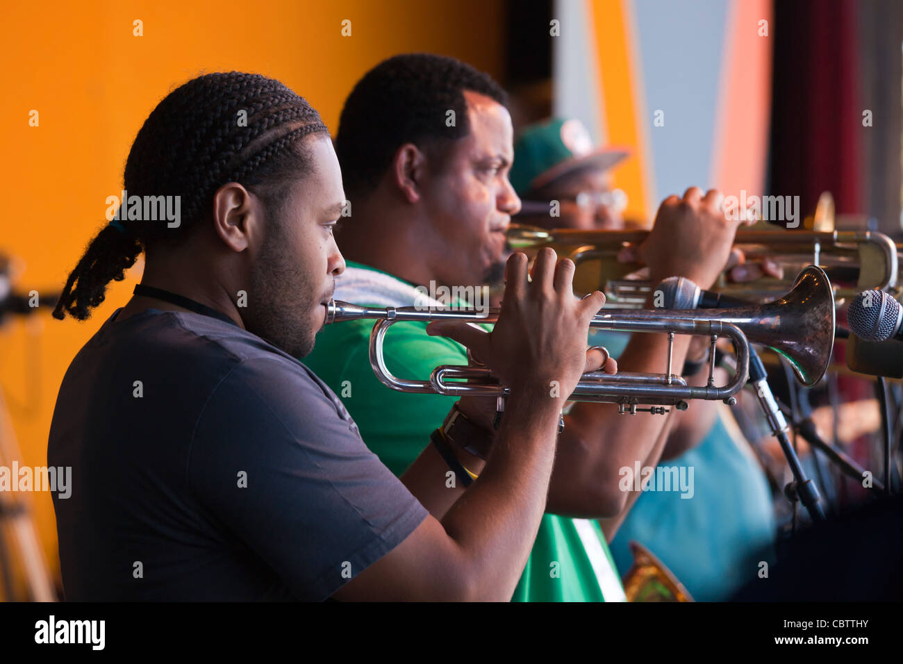 An AFTERNOON WITH TREME performed by WENDELL PIERCE AND THE SOUL REBELS BRASS BAND - 54TH MONTEREY JAZZ FESTIVAL - Stock Image