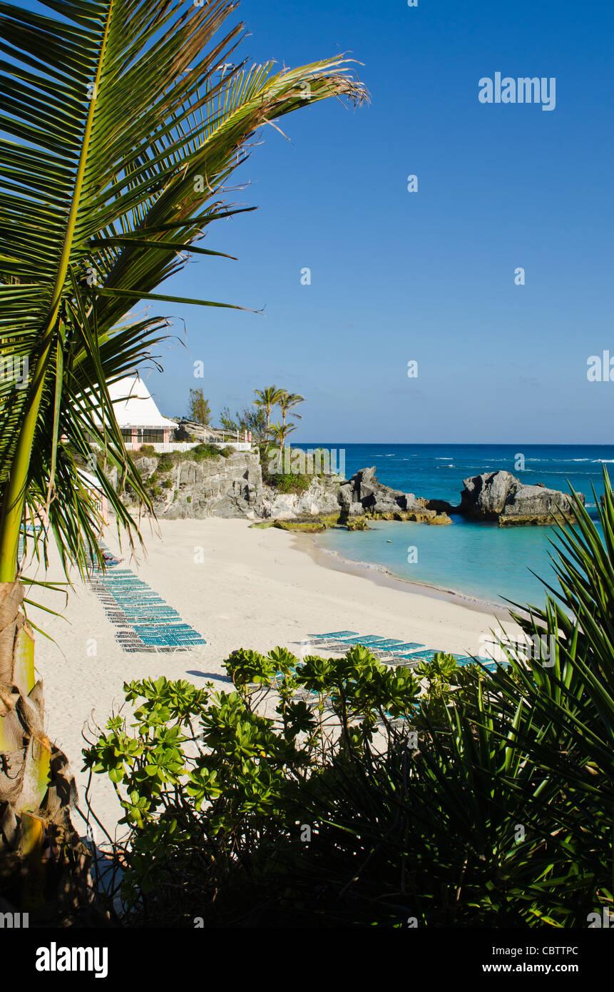 Bermuda. East Whale Bay beach at Fairmont Southampton Princess hotel, Bermuda. - Stock Image