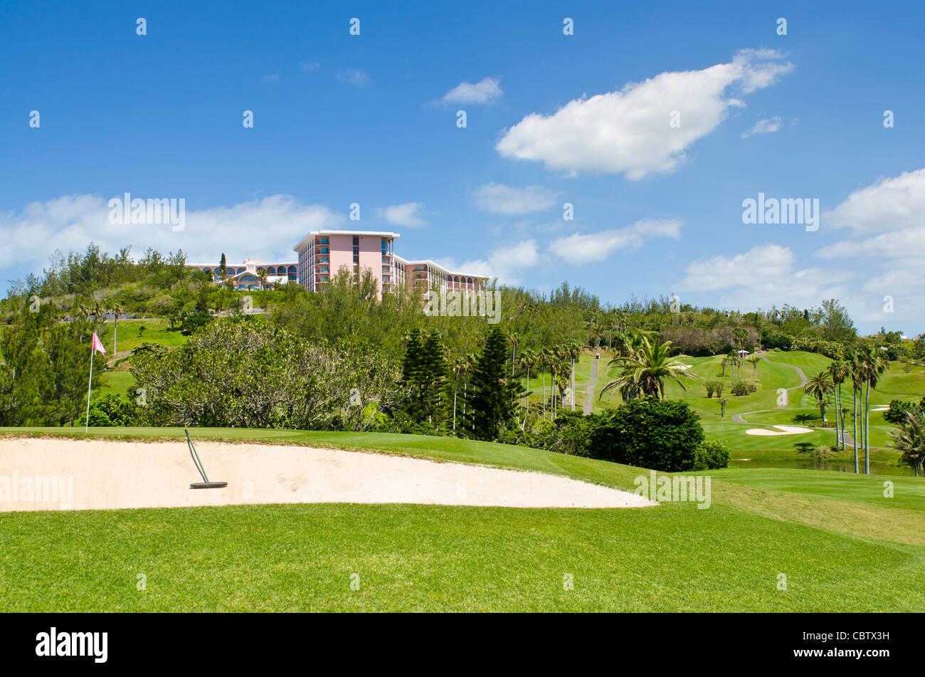 Bermuda. Fairmont Southampton Hotel and Golf Club, Bermuda. - Stock Image