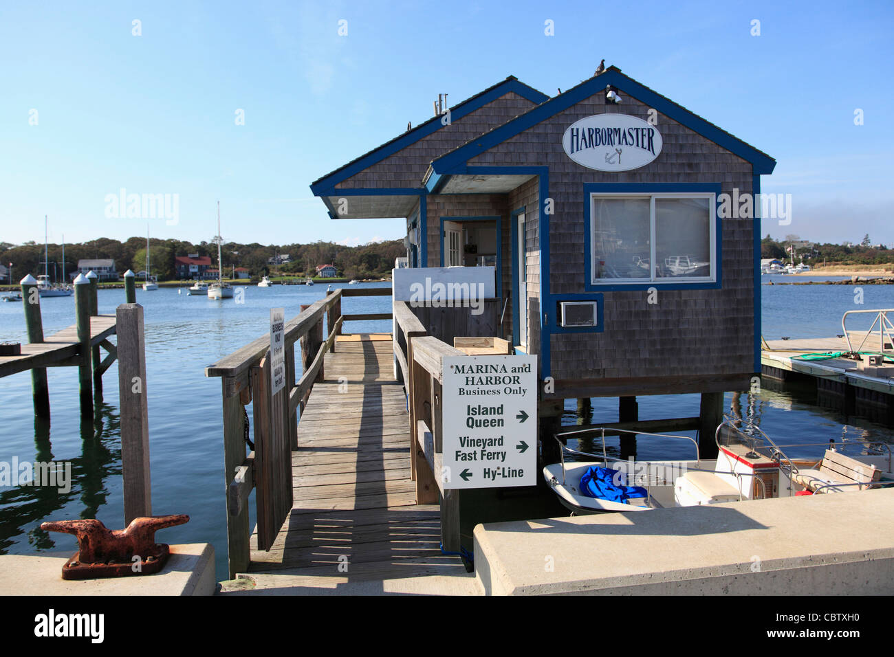 Harbormaster, Oak Bluffs, Marthas Vineyard, Massachusetts, New England, USA - Stock Image