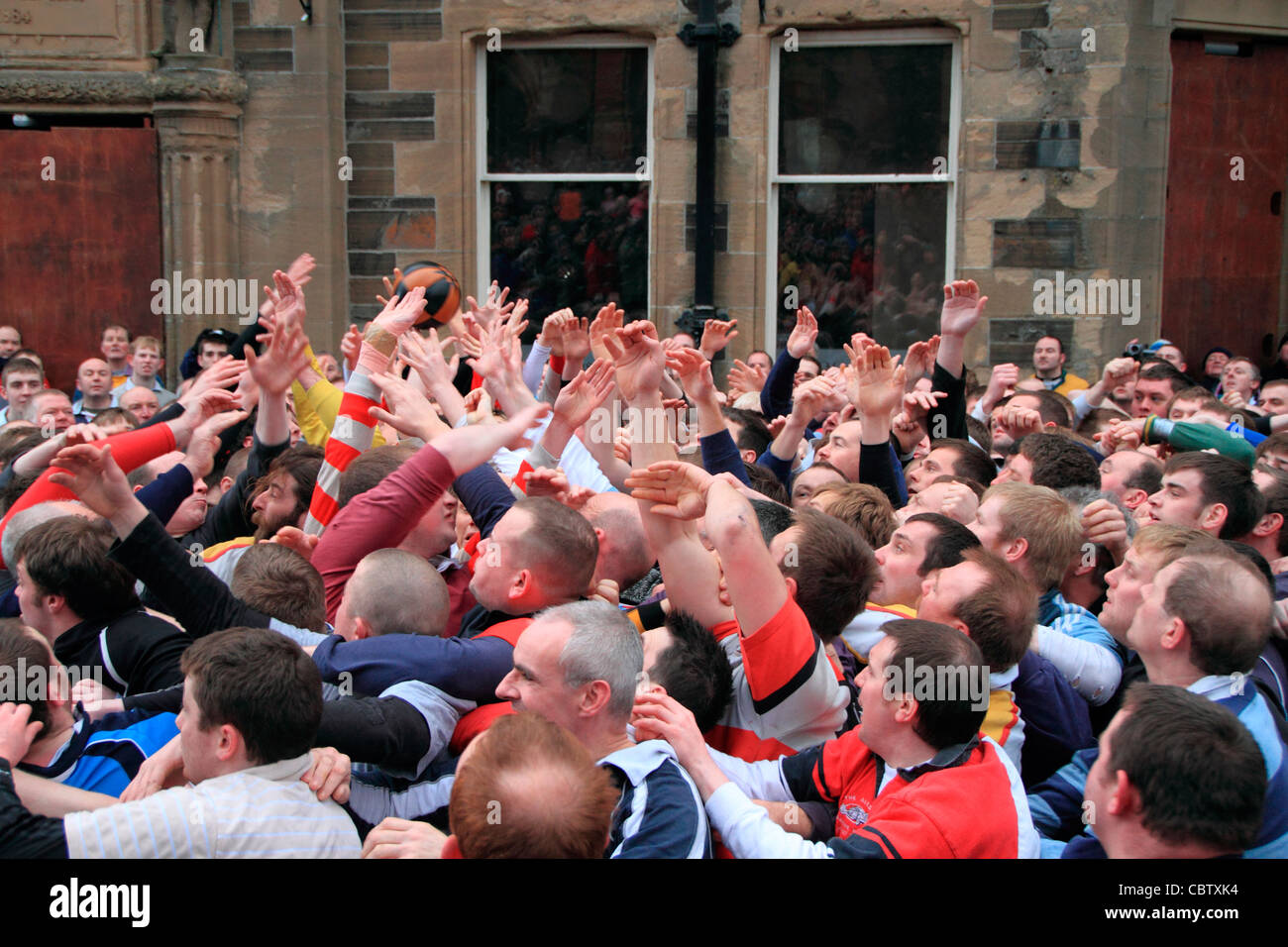 Orkney, New Year's Day Ba game - Stock Image