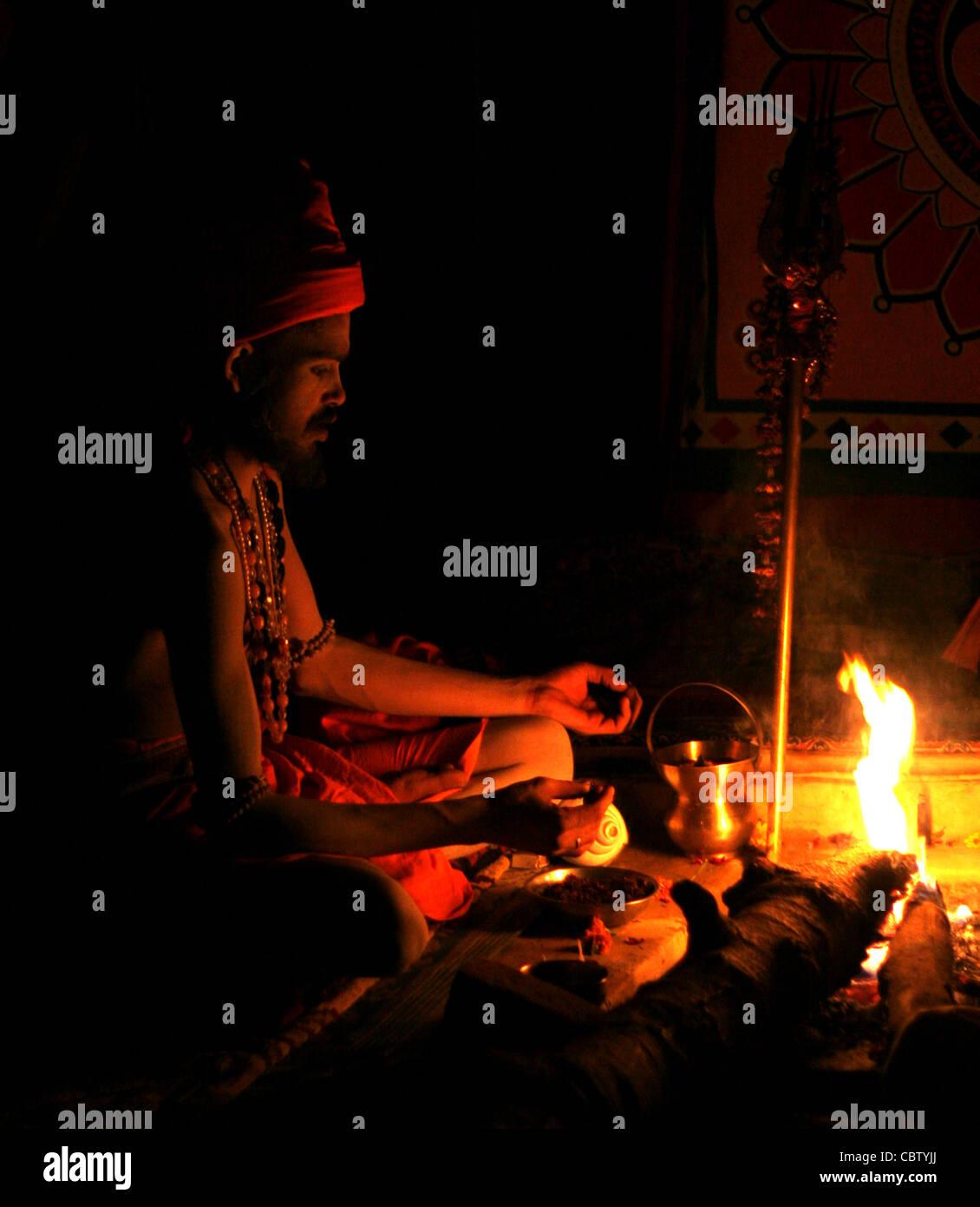 Naga Sadhu - Stock Image