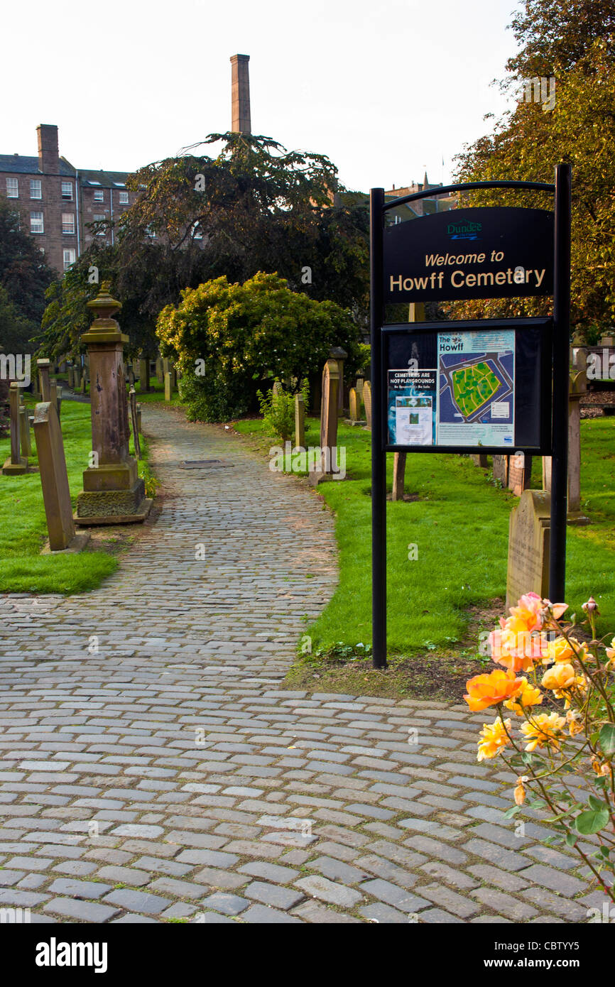 Howff Cemetery Dundee in Scotland - Stock Image