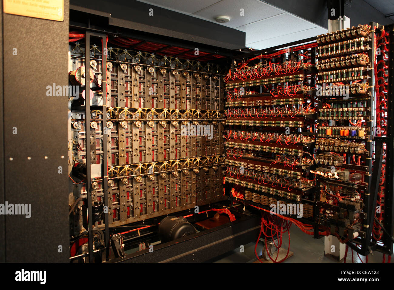 the turing bombe  re-build project in bletchley park  uk stock photo  41731595