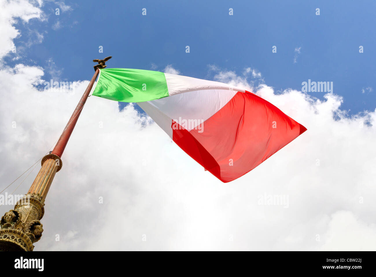Italian flag - Stock Image