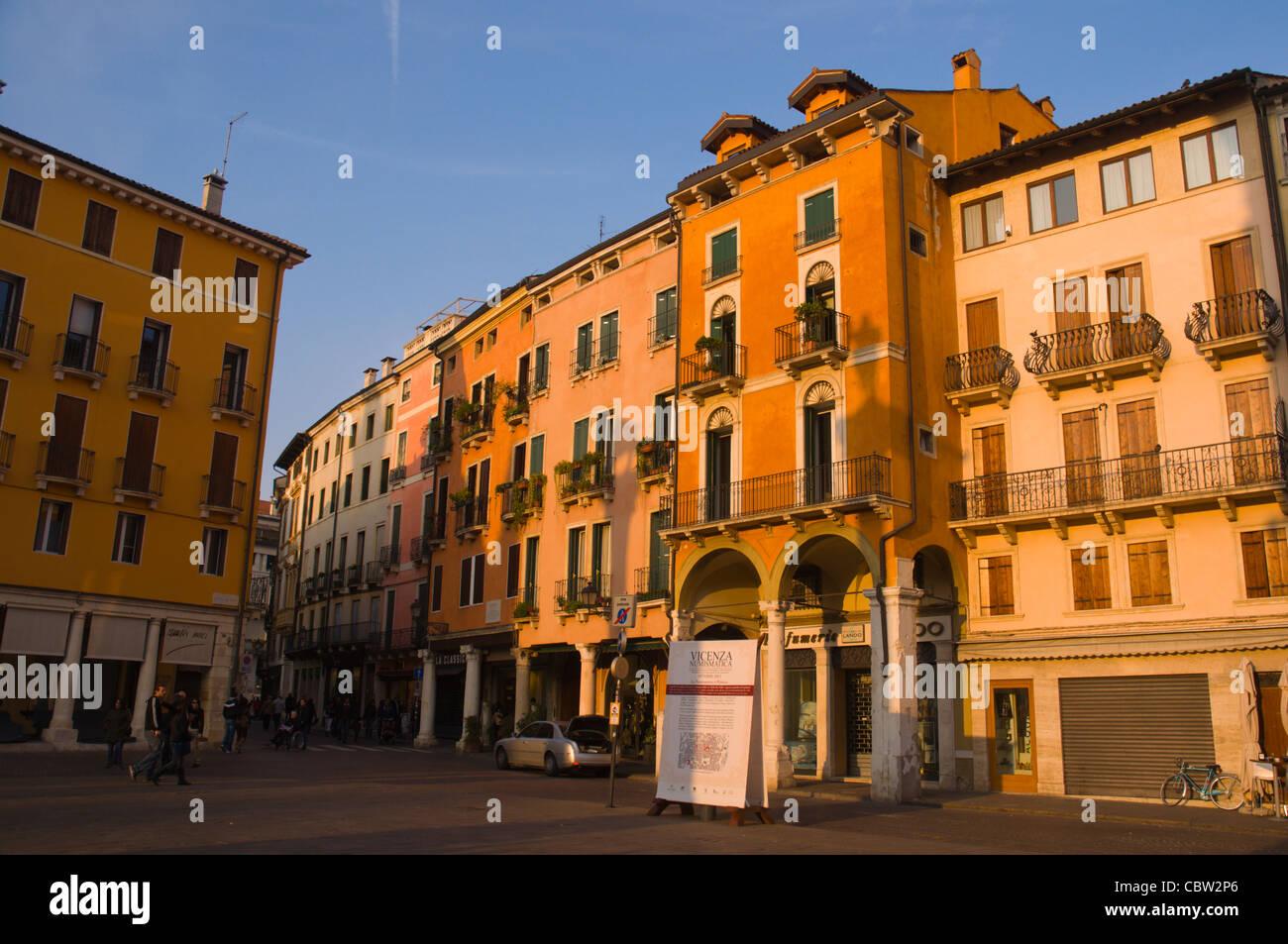 Piazza dei Signori square Vicenza the Veneto region northern Italy Europe - Stock Image