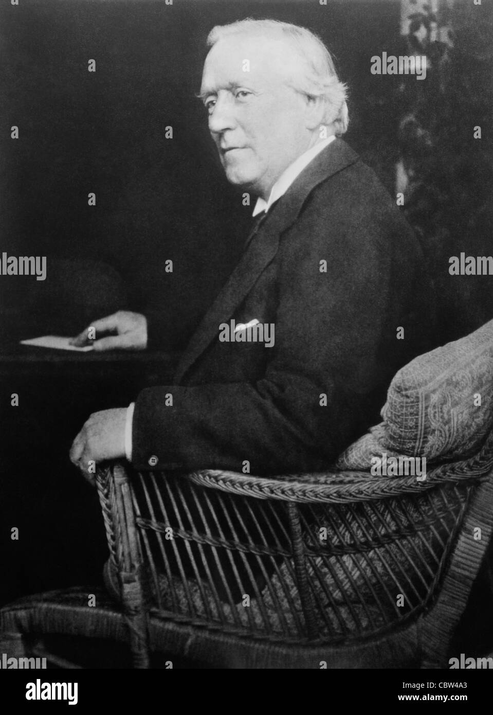 Vintage portrait photo circa 1910s of British politician Herbert Henry Asquith (1852 - 1928) - Liberal Prime Minister - Stock Image