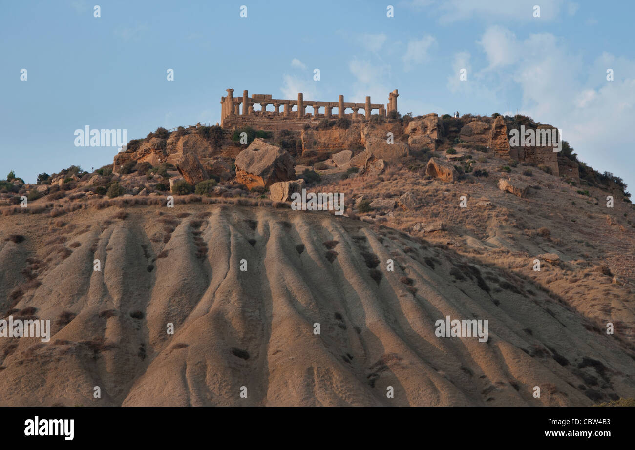 VALLEY OF THE TEMPLES Agrigento, Sicily, Italy, Greek, VALLE  DEI  TEMPLI, 5th century before Christ, Hera, Lacinia, Stock Photo