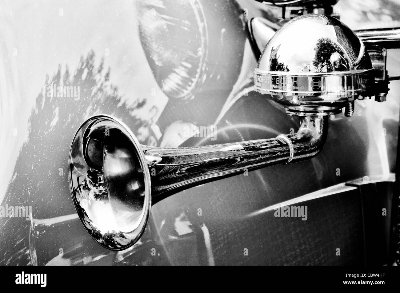 Horn of an old car - Stock Image