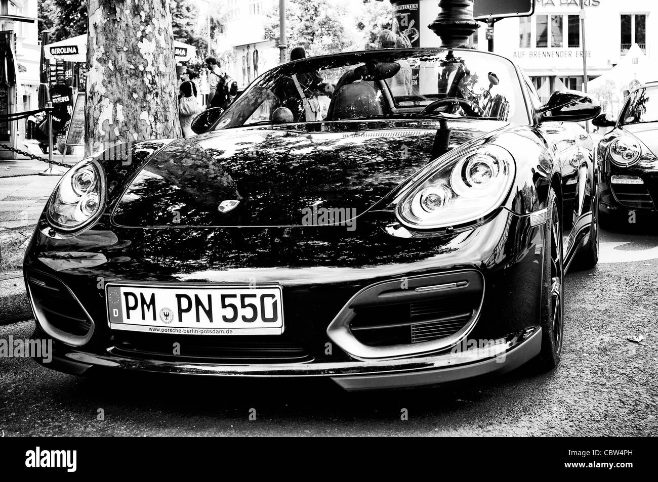 Car Porsche Cayman   Stock Image
