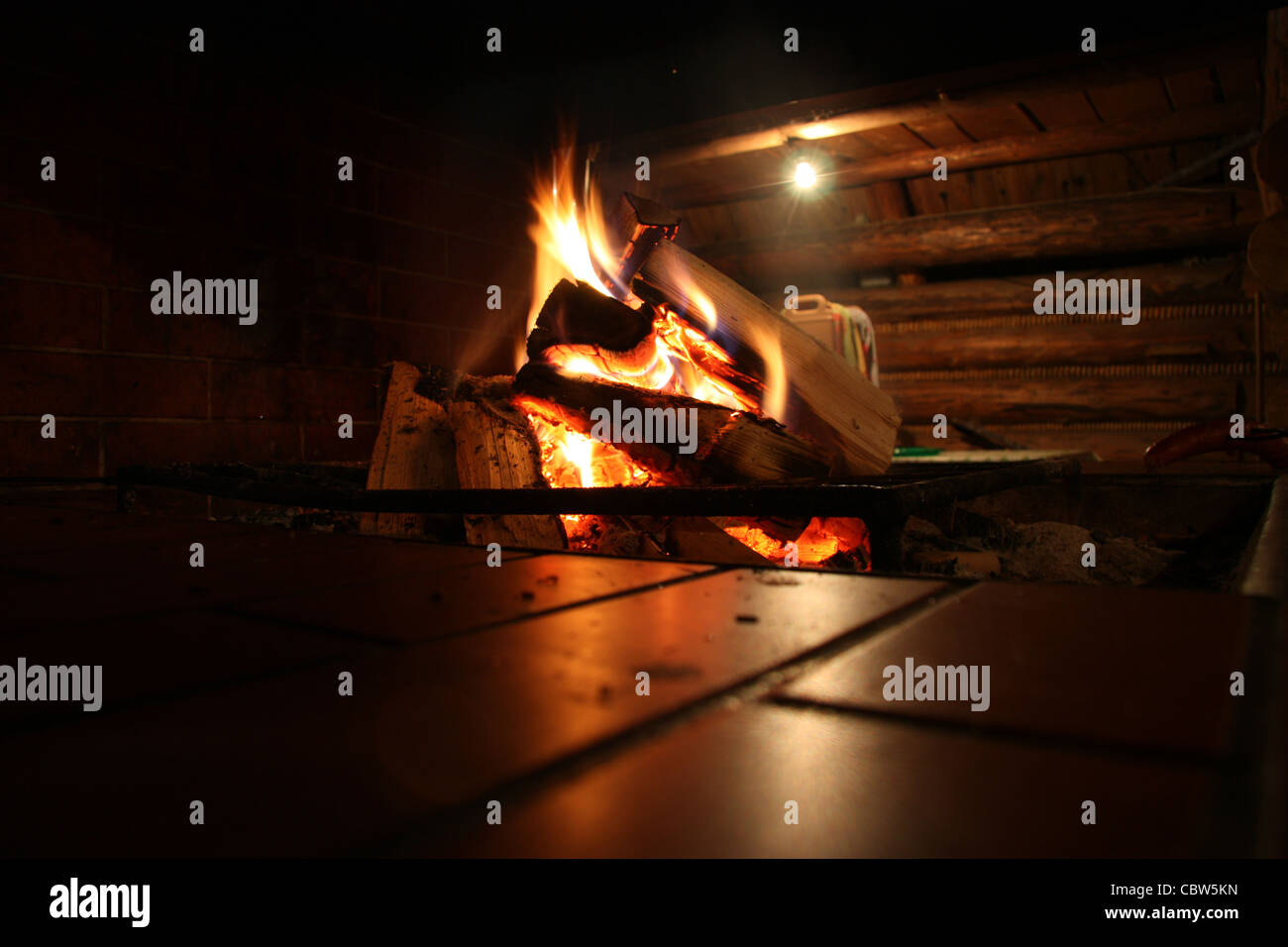 Fire place - Stock Image