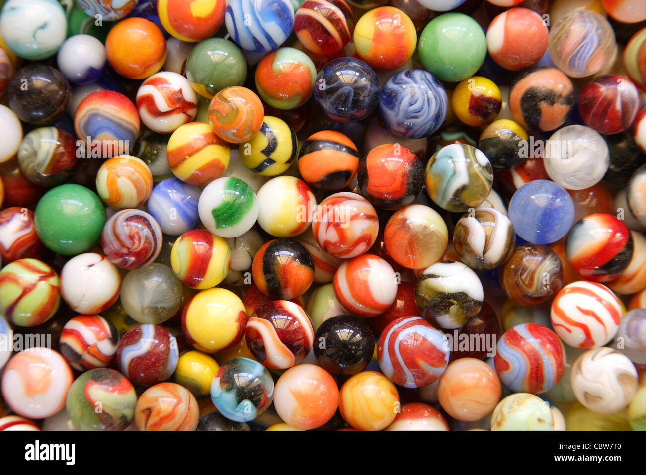 Marbles, Close up - Stock Image