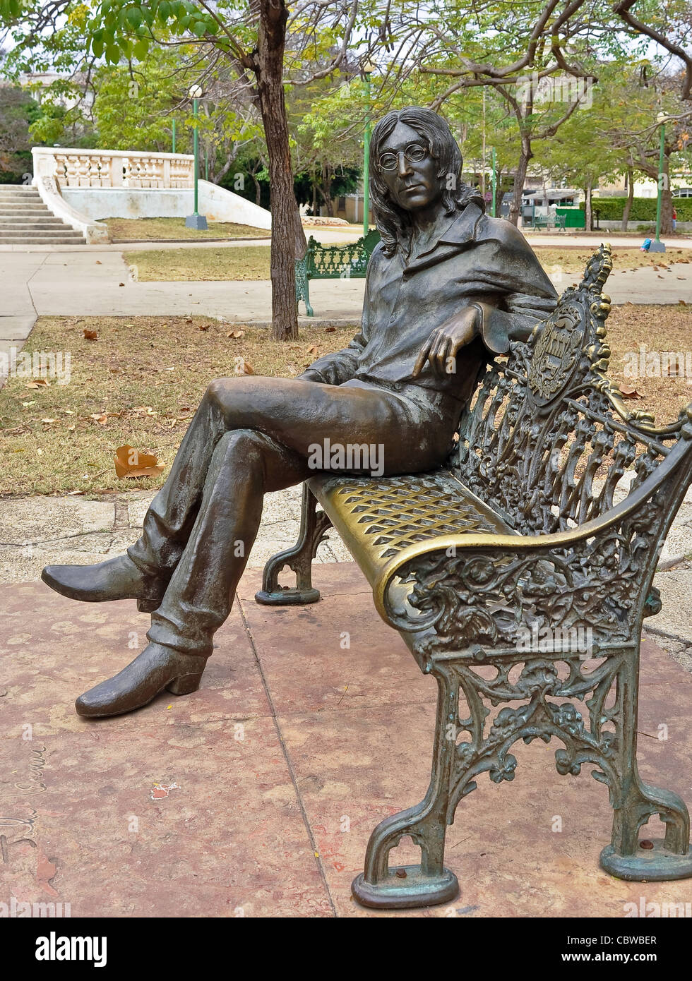 John Lennon in John Lennon Park, February 3, 2010 in Havana Cuba. Lennon is revered in Cuba. - Stock Image