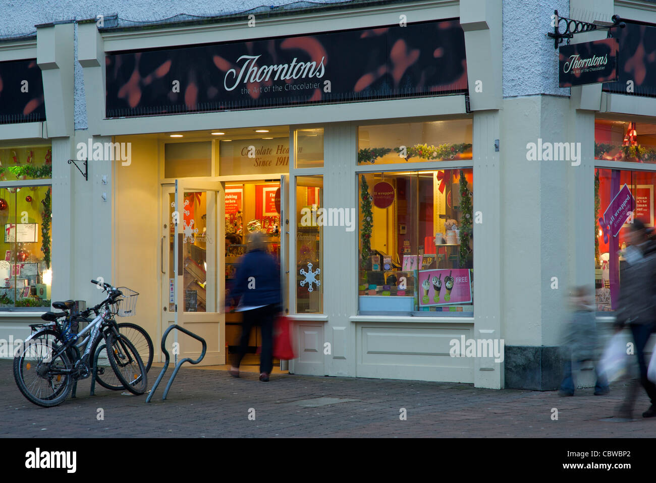 Thorntons Chocolate Shop, Stricklandgate, Kendal, Cumbria, England UK - Stock Image