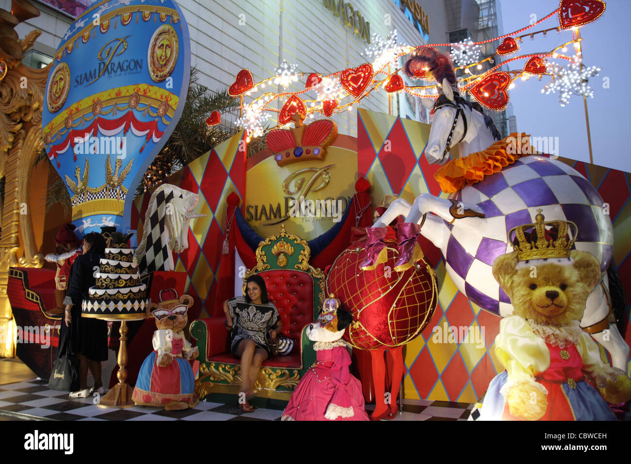 christmas new year theme at siam paragon shopping mall in bangkok