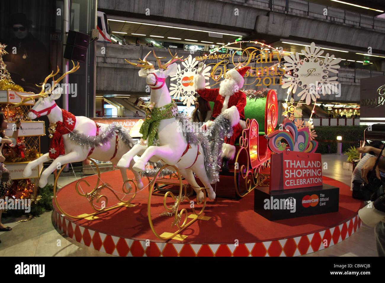 christmas new year theme at siam paragon shopping mall in bangkok
