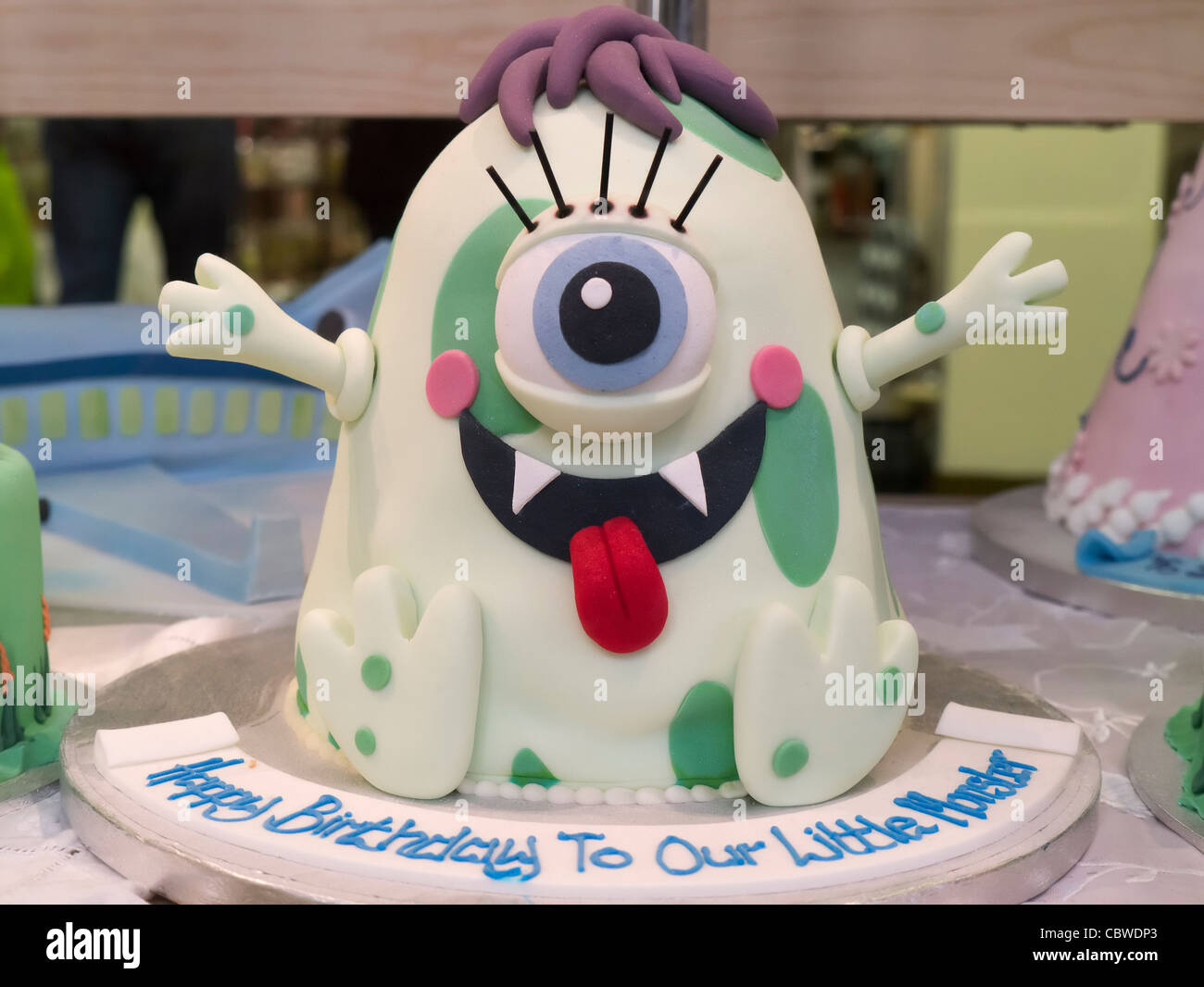 Phenomenal Imaginative Little Monster Birthday Cake Oxford Covered Market Personalised Birthday Cards Arneslily Jamesorg