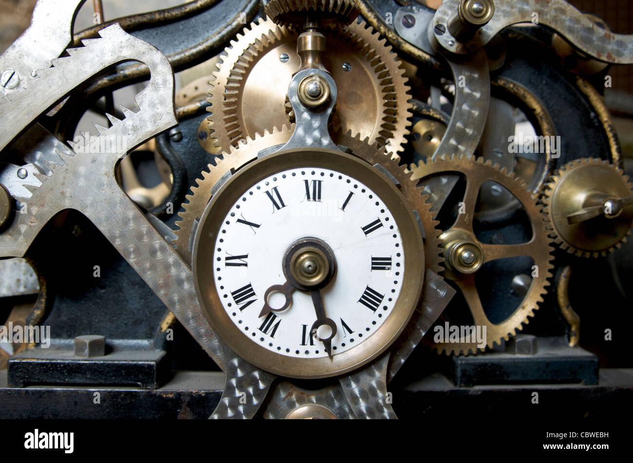 Antique clock. - Stock Image