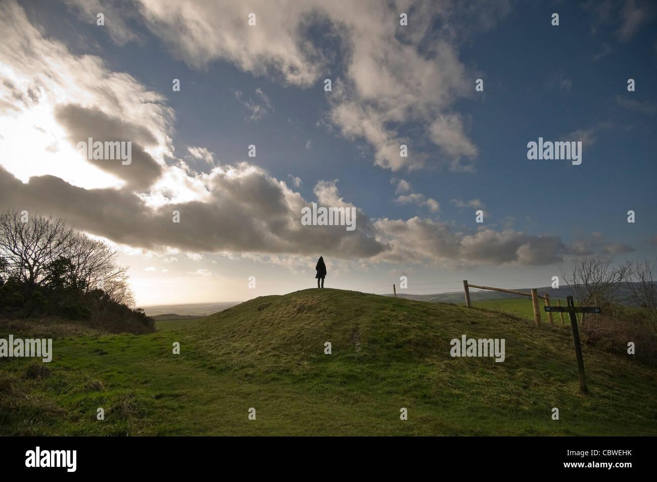 Rackham Banks Iron Age Dyke near Amberley, West Sussex, UK Stock Photo