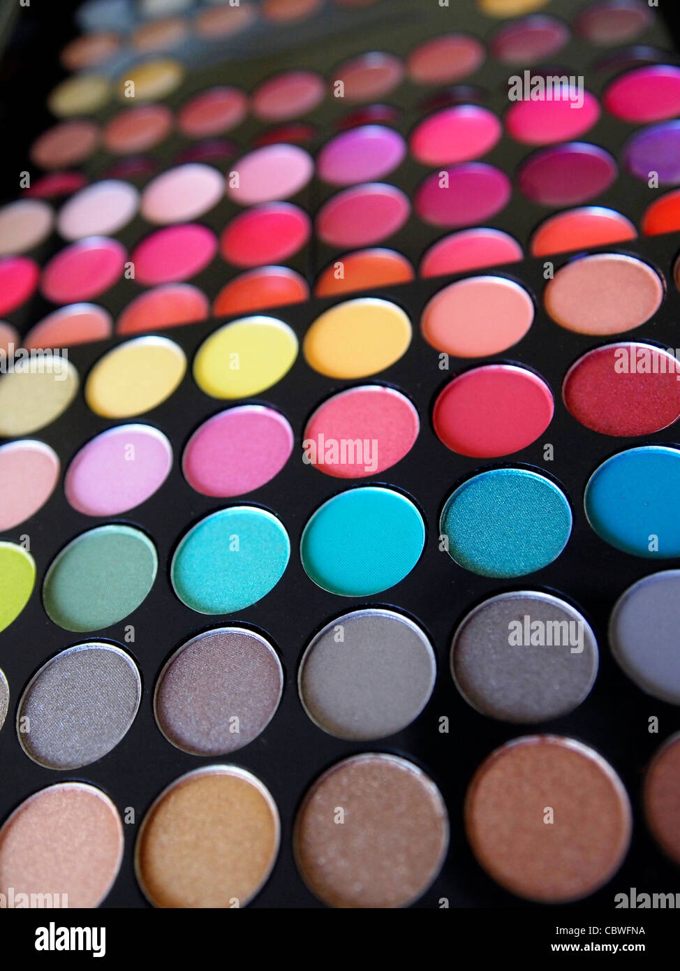 Eyeshadow box colors - Stock Image