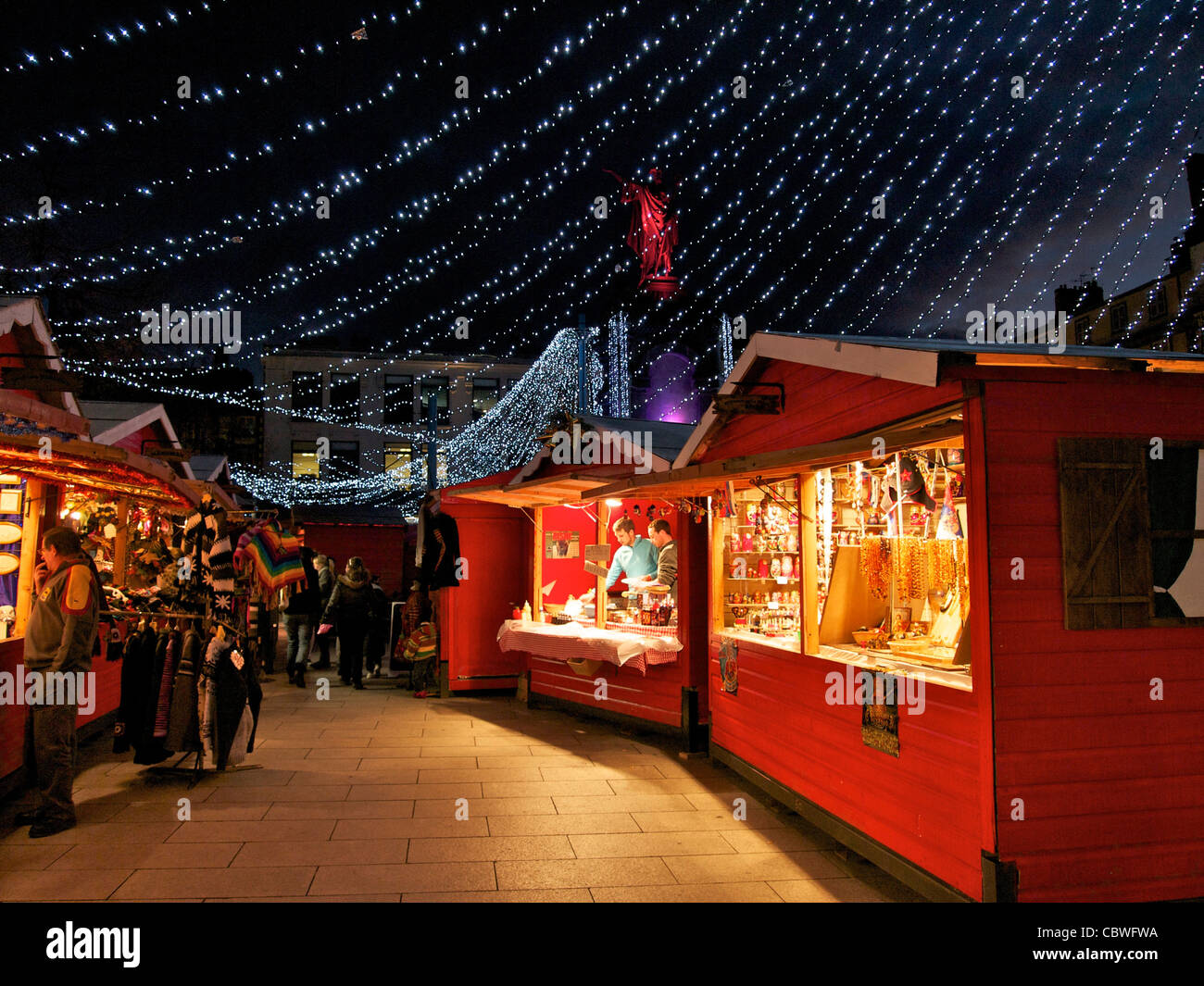 christmas market in clermont ferrand auvergne france stock image - France Christmas