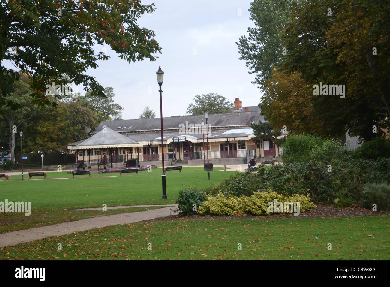 bandstand at skegness park - Stock Image