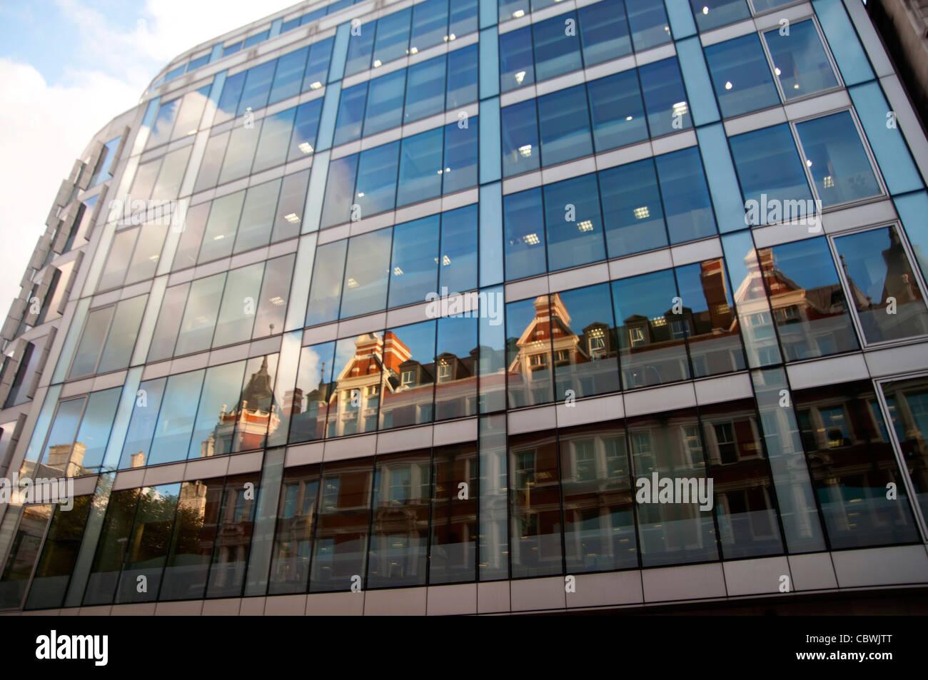 office reflections High holborn London City UK - Stock Image