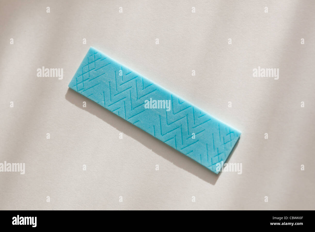 stick of blue chewing gum - Stock Image