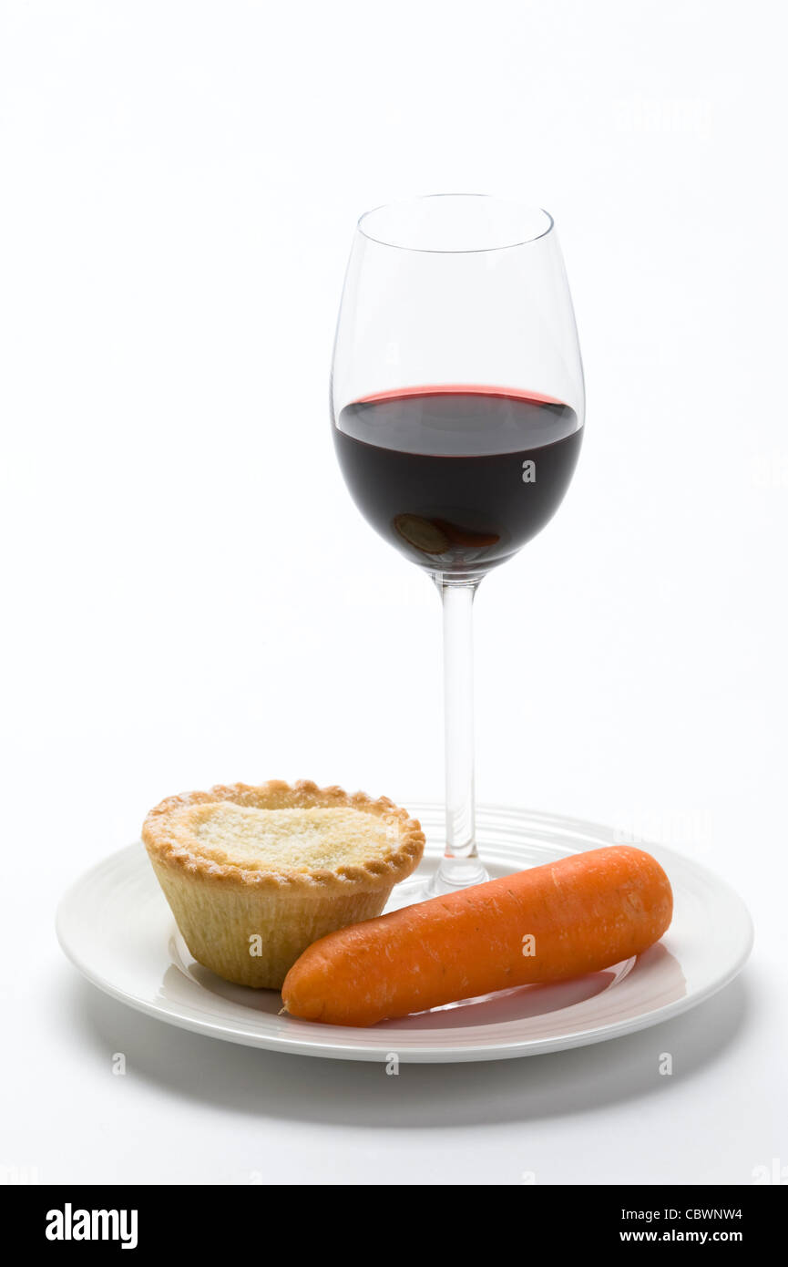 a traditional british custom food offering left on Christmas eve for Santa Claus and Rudolph the red nosed reindeer - Stock Image