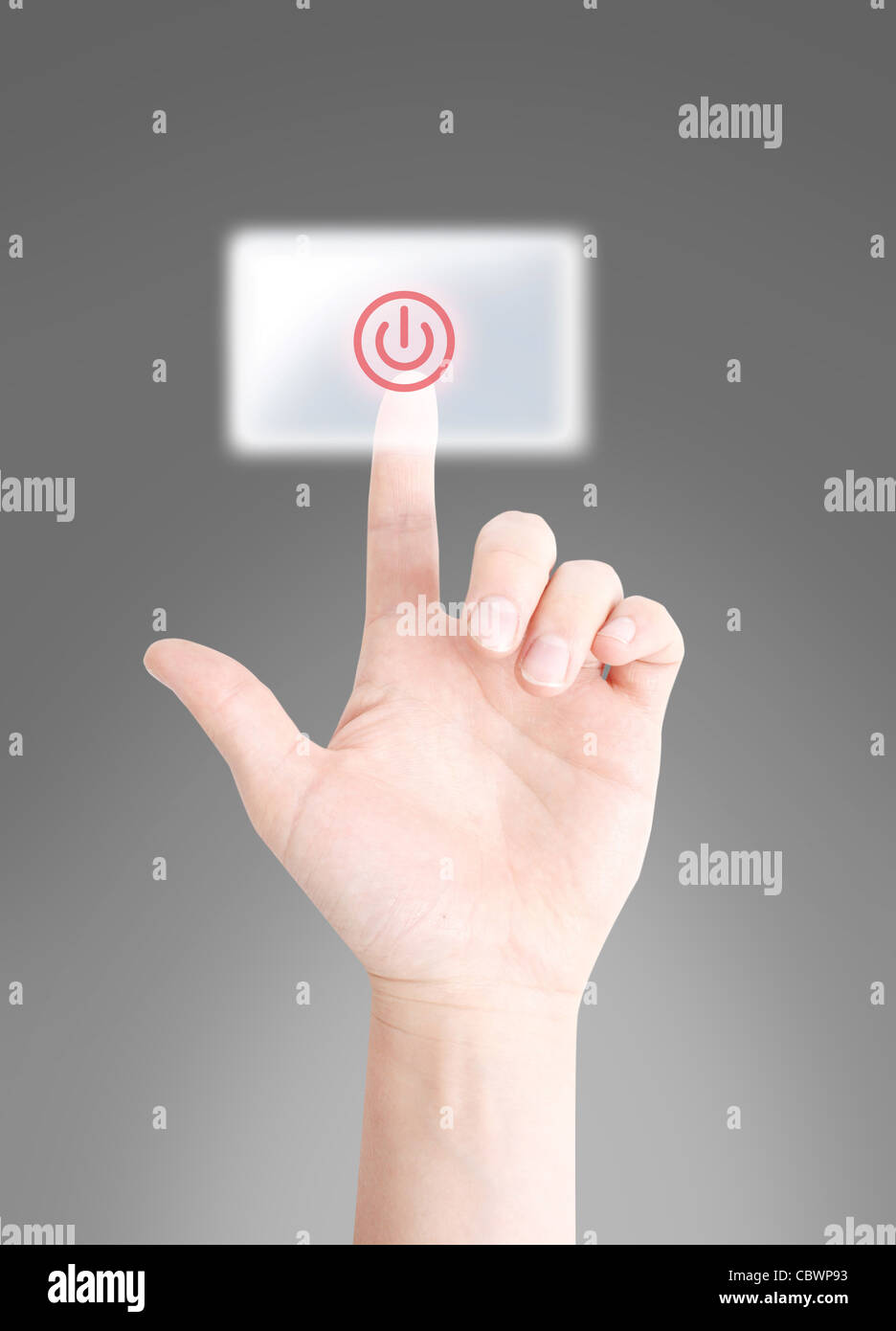 Turn off button - Stock Image