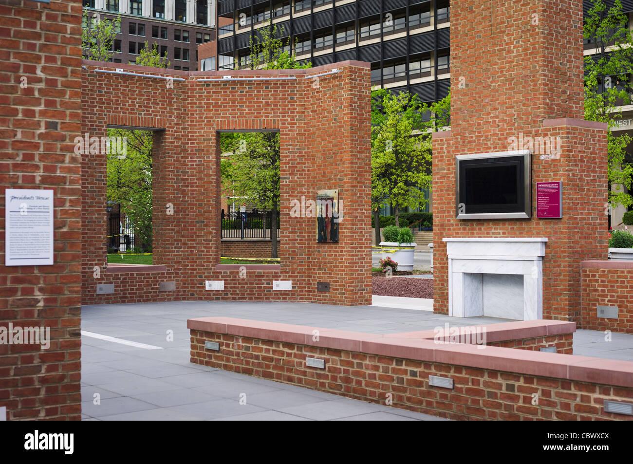 PRESIDENT'S HOUSE SITE PHILADELPHIA PENNSYLVANIA - Stock Image