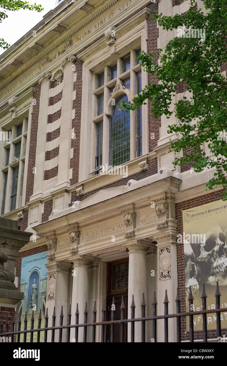COLLEGE OF PHYSICIANS & MUTTER MUSEUM PHILADELPHIA PENNSYLVANIA - Stock Image