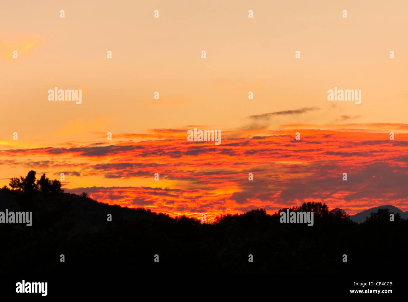 SUNSET CASTLETON VIRGINIA USA - Stock Image