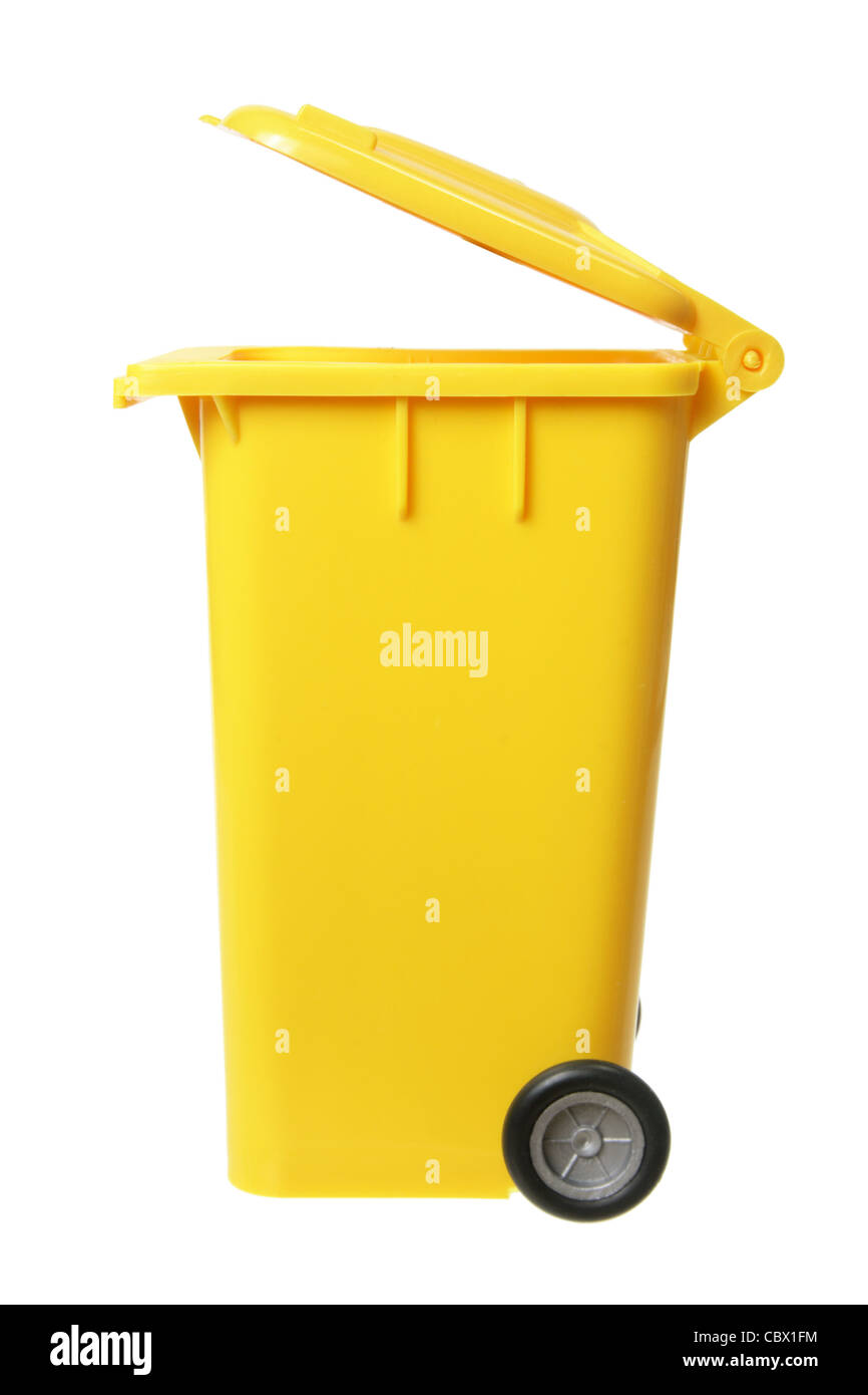 Miniature Garbage Bin - Stock Image