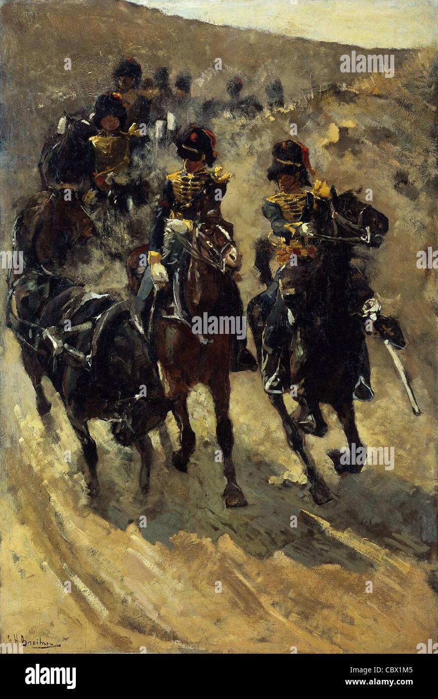 George Hendrik Breitner Horse Artillery 1886 Rijksmuseum - Amsterdam - Stock Image